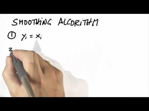 Smoothing Algorithm - CS373 Unit 5 - Udacity