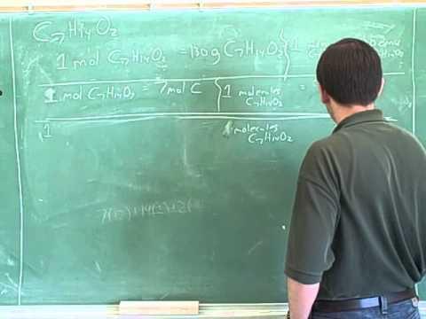 Stoichiometry. Atoms, molecules, moles (20)
