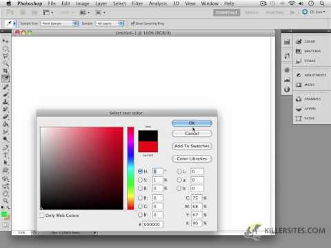 Photoshop CS5 - Intro To Type Tools