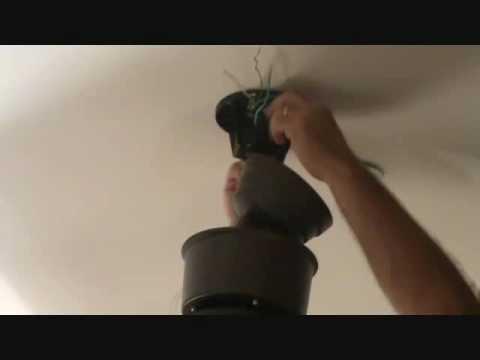 """Installing the ceiling fan """"unit"""""""