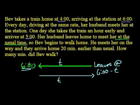 Early Train Word Problem