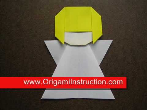 How to Fold Origami Angel - OrigamiInstruction.com