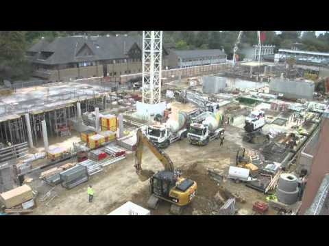 Construction progress, Oct 2011 - Gibbs