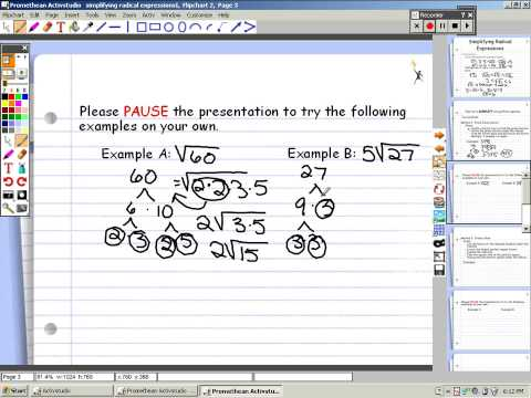 Simplifying Radicals Expressions