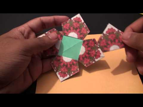 Popular Craft Projects - 002: Tea Bag Folding Four Sided Square Coaster (Kite Fold 2) - TCGames [HD]