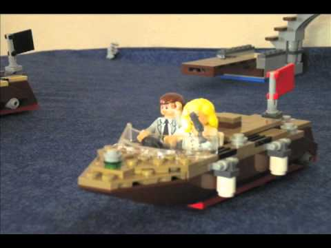Indiana Jones in the Red Team vs. The Black Team Lego Animation