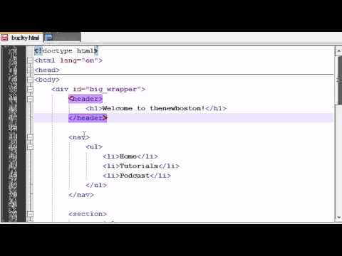 HTML5 Tutorial - 9 - Laying Out the Website