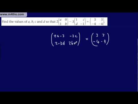 (5) FP1 Matrices (Edexcel Further Pure Mathematics) Matrix Algebra - Scalars