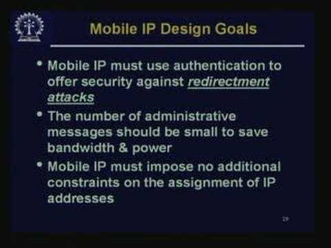 Lecture - 29 IP Version 6 & Mobile IP