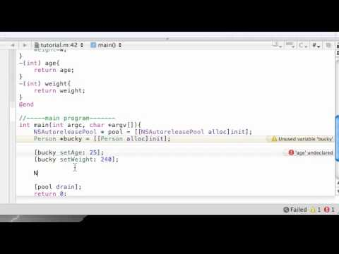 Objective C Programming Tutorial - 8 - Accessing Instance Variables