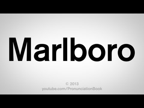 How to Pronounce Marlboro