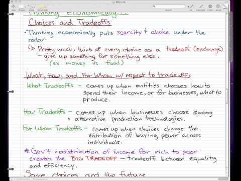 Microeconomics - 4: Let's start thinking economically...