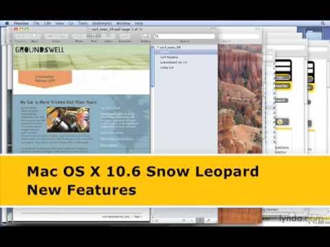 lynda.com: Mac OS X 10.6 Snow Leopard New Features