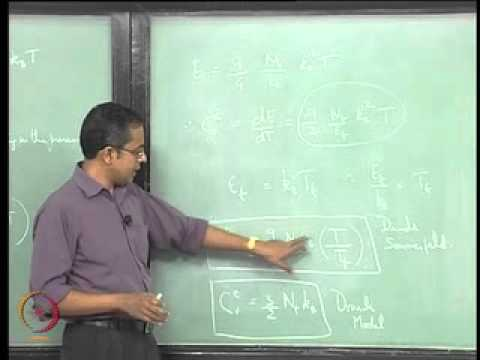 Mod-02 Lec-26 Electronic Contribution to Specific Heat at Constant Volume