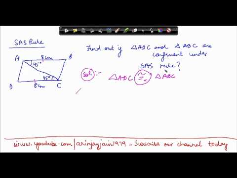 1411. Mathematics Class VII -  Congruency of Triansles - SAS criterion problem
