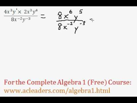 (Algebra 1) Exponents - Simplifying Expressions Question #1