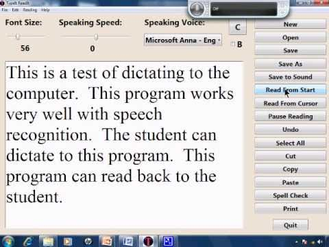 Free Speech Recognition Tutorial 10 - Dyslexia and Speech Therapy