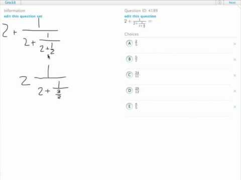 Grockit GMAT Quantitative - Problem Solving: Question 4189