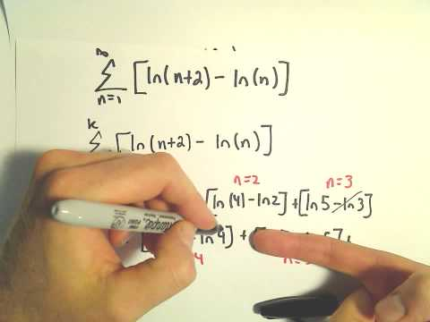 Telescoping Series ,Showing Divergence Using Partial Sums