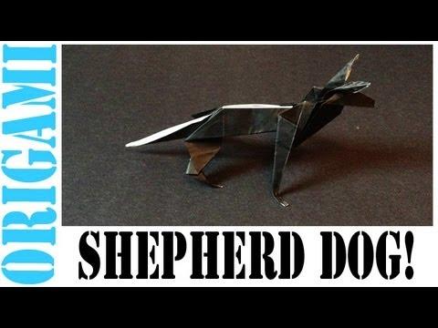 Origami Daily - 195: Shepherd Dog (German Shepherd) - TCGames [HD]