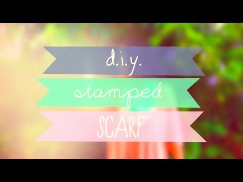 Make Your Own Stamped Infinity Scarf! ♥ DIY