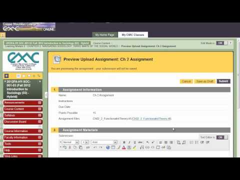 How to Navigate Blackboard Fall 2012