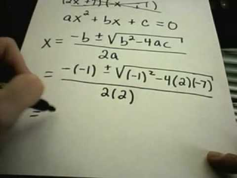 Quadratic Equations - Factoring and Quadratic Formula