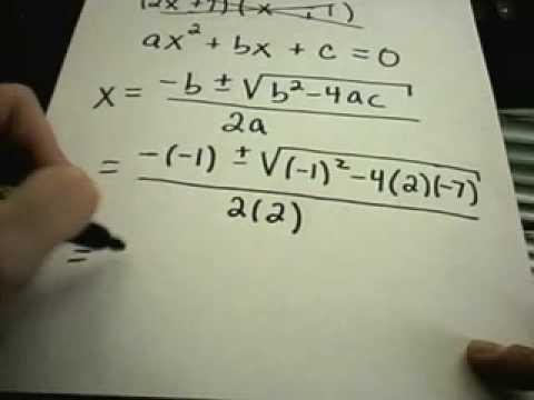 Quadratic Equations - Factoring and Quadratic Formula