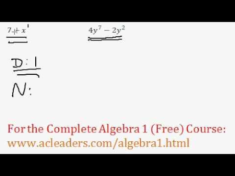 (Algebra 1) Polynomials - Classifying Polynomials Questions #3-4