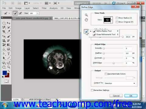Photoshop CS5 Tutorial Refining Edges of Selections Adobe Training Lesson 7.4