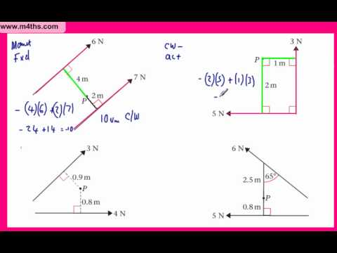 (9) Moments M1 - Mechanics - Sum of moments about a point