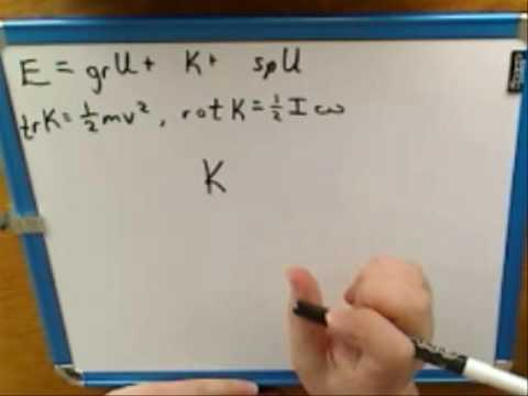 Conservation of energy with rotation (1)