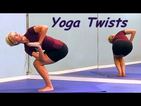 Yoga Twist How To Video for Beginners, Relaxing Moves for Back Pain | Emily, Hills Fitness Austin