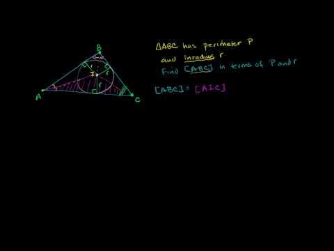 Inradius Perimeter and Area