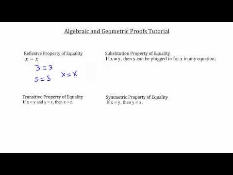 Algebraic & Geometric Proofs