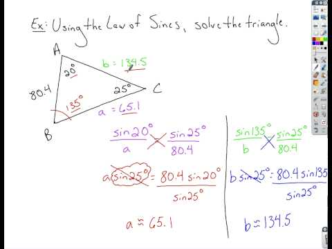 Trigonometry - Law of Sines
