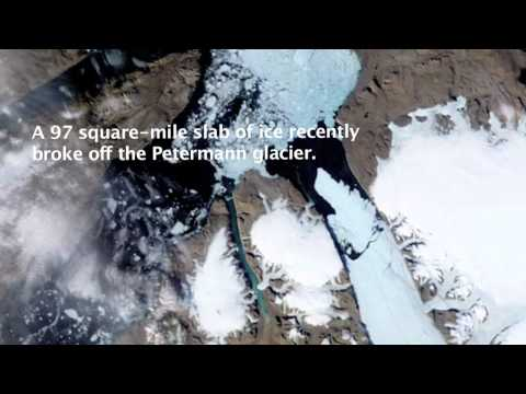 Glacier Slab Breaks Off