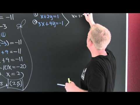 solving systems by substitution.mov