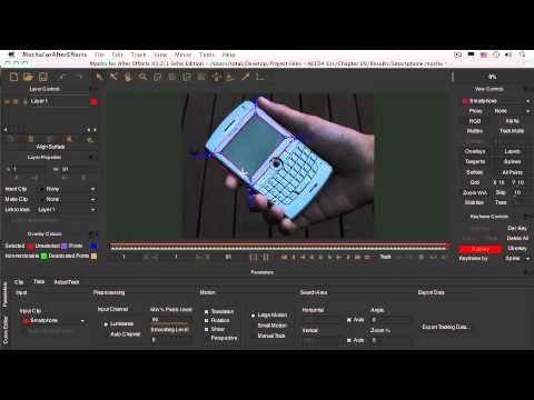 After Effects CS4 Essentials Mocha Tracking Application