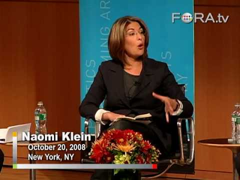Naomi Klein Blames Greenspan, Deregulation for Economic Crisis