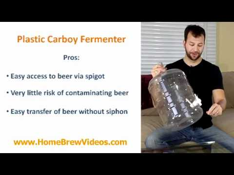 Home Brew Fermenters Guide 3 of 3 - Plastic Carboy Homebrew Fermenter For Homebrewing