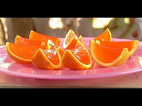 Orange Wedge Jello Shots - RECIPE
