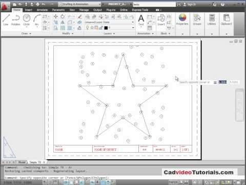 AutoCAD 2012 Tutorial - Project 2.1 - Display Practice