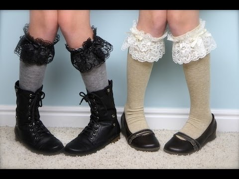No-Sew Lace Knee Socks | Easy Fashion Ideas