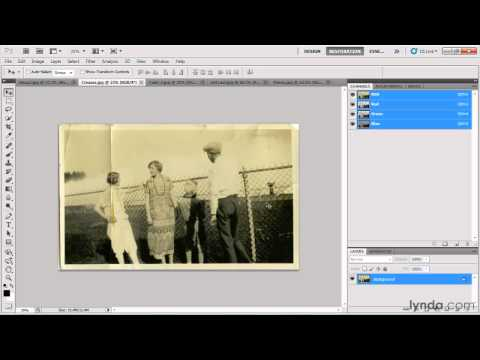 How to restore damaged photographs: Preparation | lynda.com overview