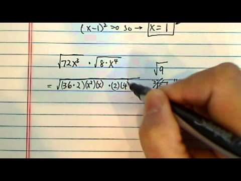 how to simplify square roots? sqrt 72x^3 multiply by sqrt 8x^4