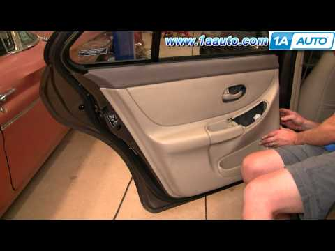 How To Install Repair Replace Rear Door Panel Olds Intrigue 98-02 1AAuto.com