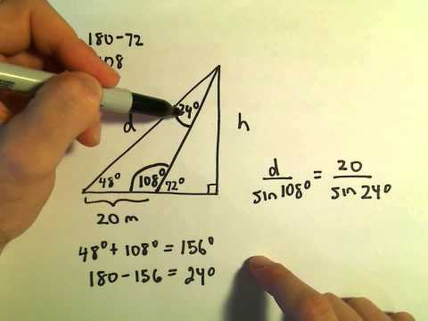 Law of Sines - Application/Word Problem, Ex 3