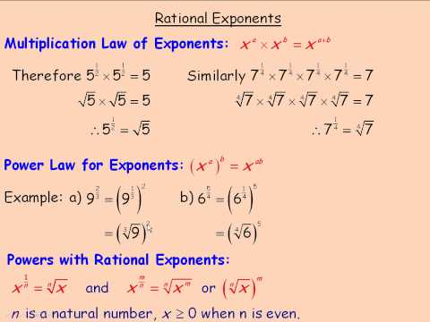 Rational Exponents Part 1