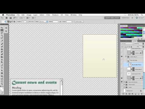 Beginners Web Design Tutorial | Creating a Content Box in Photoshop | InfiniteSkills